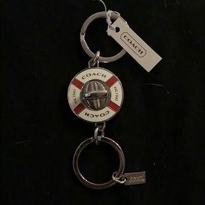 Coach lifesaver keychain nickel